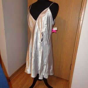 Frederick's Of Hollywood Silver Chemise Nightie 3X